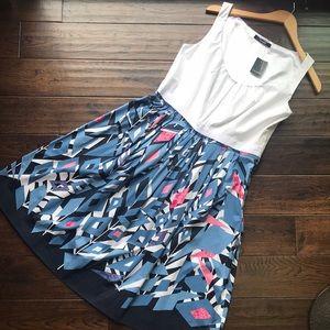 NWT Tahari Alena Windsor navy classic dress